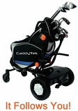 FTR CaddyTrek Follow and Remote Control Electric Golf Trolley CT2000 BA