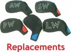 Free Shipping! CoverUpz Replacement  Iron Covers | Individual Golf Wedge Covers
