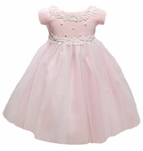 Baby or Infant Special Occasion Dress: Pink Princess Tulle Flower Girl Dress