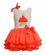 Bonnie Jean Orange Cupcake Tutu Birthday Dress 24 month