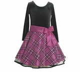 Girl's Party Dress: Magenta Hipster Special Occasion Dress