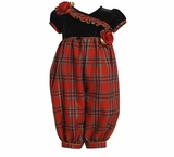 Girl's Christmas Outfits: Plaid Party Pant