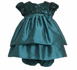 Girl's Special Occasion Dress: Teal Sequin Party Dress