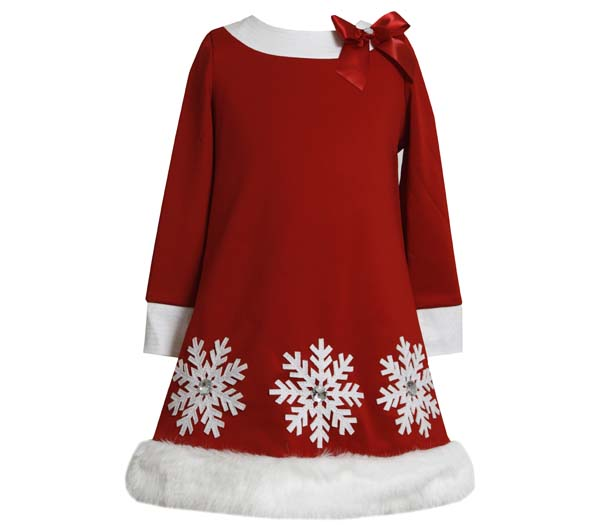 Bonnie Jean Collection Girls Red Christmas Holiday Dress: Sparkle Snowflake Dress 12 months at Sears.com
