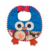 Blue Baby Girl's Bib: Mud Pie Infant Girl's Owl Bib