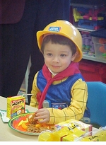 A Little Builder Celebrates Halloween