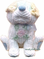 Chenille Puppy ~ Nursery Decoration