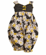 Bonnie Jean Baby or Toddler Girls Daisy Coverall