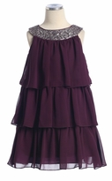 Girls Party Dress  Plum