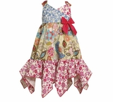 Bonnie Jean Summer Boho Trendy Hanky Hem Maxi Dress 12 month - 4T