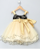 Pretty Girls Party Dress - GOLD