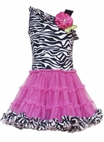 Unique Girls Dresses - Zebra Tutu Dress