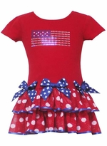 Girls Pageant Dress - Patriotic
