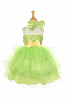 Girls Party Dress - Lime and Lemon Sherbert Tulle -  CLEARANCE FINAL SALE