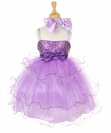 Girls Party Dress -  Lavender and Purple Tiered Organza Tulle  SOLD OUT