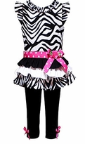 Rare Editions Zebra Tiered Dress and Legging Set SOLD OUT