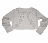 White Rose Girls Cardigan