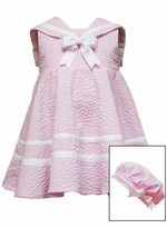 Little Girls Sailor Dress Pink Baby or Girls