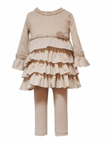Gorgeous Girls Gold Knit Lurex Dress  -  4 - 6 HURRY!