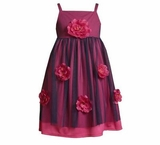 Rare Editions Girls Dresses - Magenta Rose Dress -sold out