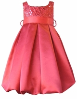 Girls Red Satin and Sequins Holiday Dress sold out