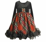 Black and Red Plaid Dress with Ruffle Trim SOLD OUT