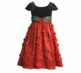 Bonnie Jean Holiday Dress - Red / Black Green Sash  18 month - 6
