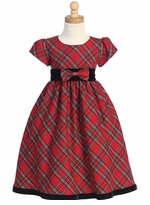 Girls Christmas Dress - Red Holiday Plaid  - sold out