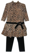 Good Lad Leopard Velour Tunic and Leggings - temporarily out of stock