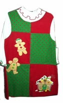 Rare Editions Christmas Dress and Mock Turtleneck  - Holiday Patchwork  SIZE 5 or 6