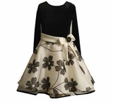 Girls Party Dress - Black and Ivory Dress