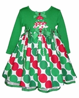 Toddler or Girls Holiday Christmas Tree Dress  SOLD OUT