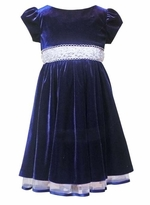 Girls Holiday Dress - Blue