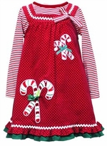 Little Girls Christmas Dresses -Red Candy Cane SOLD OUT