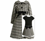 Black and White Pattern Dress and Coat Set  SOLD OUT