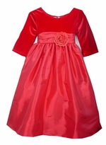 Red Velvet Rose Dress  sz  2 LAST ONE