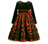 Red ~ Black Dot Gathered Waist Dress - SOLD OUT