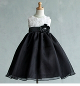 GIrls Formal Dress Black and White