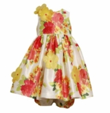 Bonnie Jean - Yellow Floral Shantung Dress SOLD OUT