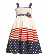 Girls Patriotic Dress- Smocked Dress
