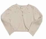 Bonnie Jean - White Beaded Cardigan Sweater