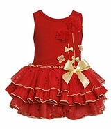 Fancy Infant Dress - Sunset Coral Glitter Tutu  - NEW!