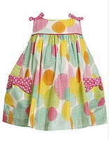 Bonnie Baby Balloon Dot Sundress -  SALE  SIZE