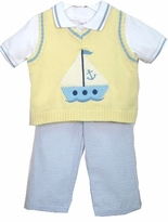 Boys Dress Clothes - Sailboat Sweater Set - SOLD OUT