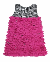 Toddler 2T 3T  4T Zebra Ruffle Dress