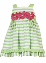 Toddler Sundress - Lime Stripe Knit Dress SOLD OUT