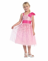 PINK Dress - One Shoulder Sparkle   SIZE 2  - 12