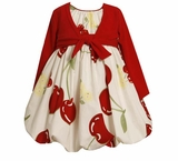 Infant Dress or Toddler Girls Dress with Cardigan