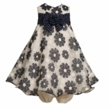 Bonnie Jean- NAVY DAISY DRESS