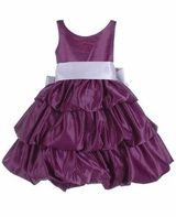 Purple Satin Layer Dress - SOLD OUT